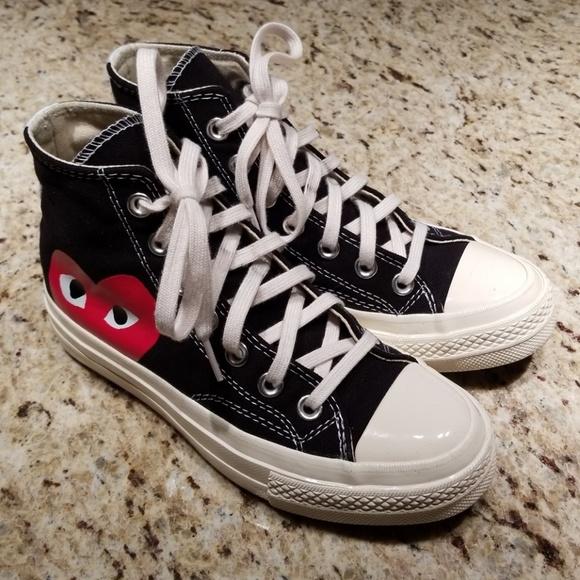 23984d967d52d6 Converse Shoes - Black and White CDG Converse